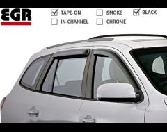 EGR SlimLine Tape-On Window Visors - Matte Black
