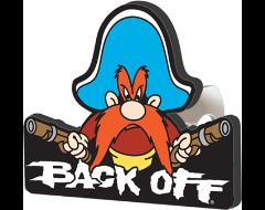 """PlastiColor Yosemite Sam """"Back Off"""" Hitch Cover"""