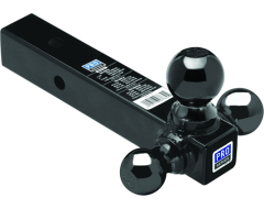 """Pro Series Tri-Ball Hollow Shank Ball Mount for 2"""" Hitch"""