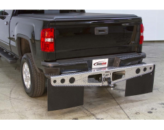 Access Rockstar Hitch Mounted Rubber Mud Flaps - Diamond Plate