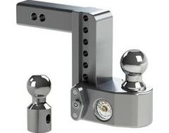 """Weigh Safe Drop Hitch Adjustable Ball Mount for 2"""" Hitch"""