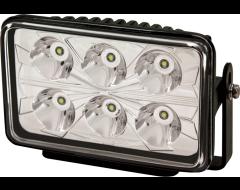 Ecco Rectangular LED Spot Beam Worklamp - Clear