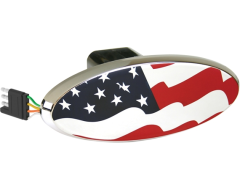 Highland USA Flag Lighted Hitch Cover
