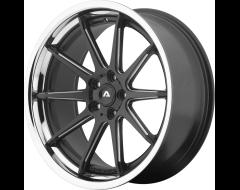 Adventus Wheels AVS-4 - Satin Black Milled with SS Lip
