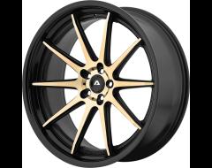 Adventus Wheels AVS-4 - Titanium Face with Black Satin Lip