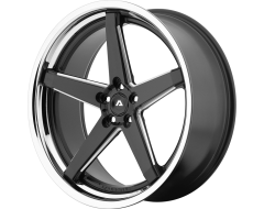 Adventus Wheels AVS-2 - Matte Black - Milled with SS Lip