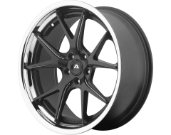Adventus AVS-3 Series Wheels - Matte black milled with ss lip