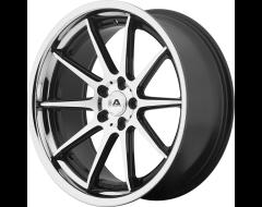 Adventus AVS-4 Series Wheels - Gloss black machined with ss lip