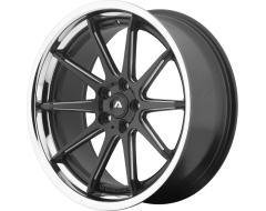Adventus Wheels AVS-4 - Satin Black - Milled with SS Lip