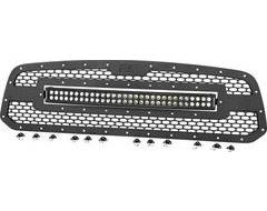 Rough Country Mesh Grille with LED Light Bar Inserted