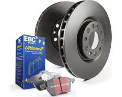 EBC Brakes Stage 1 Brake Kit - Ultimax2 Pads and Black RK Rotors