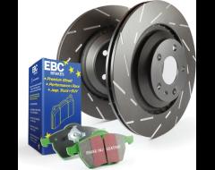 EBC Brakes Stage 2 Brake Kit - Greenstuff 2000 Sport Pads and Black USR Rotors