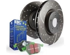 EBC Brakes Stage 3 Brake Kit - Greenstuff 6000 Pads and Black GD Rotors