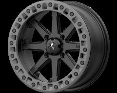 MSA Wheels M31 LOK2 Satin Black Matte Grey Ring
