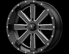 MSA Wheels M34 FLASH Gloss Black Milled Spokes