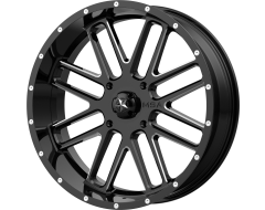 MSA Wheels M35 BANDIT Gloss Black Milled Spokes