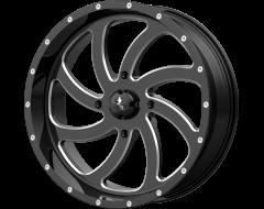 MSA Wheels M36 SWITCH Gloss Black Milled Spokes
