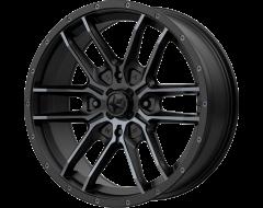 MSA Wheels M43 FANG Satin Black with Titanium Tint