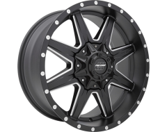 Pro Comp Quick 8 Series Satin Black with Milled Accents Powder Coated