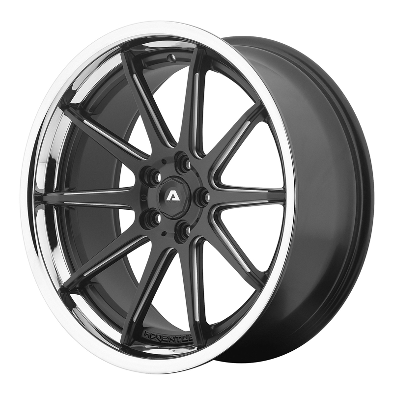 Shop Adventus Wheels AVS-4 - Satin Black Milled with SS Lip,All Products, Custom Wheels & Free Shipping Canada   Partsengine.ca