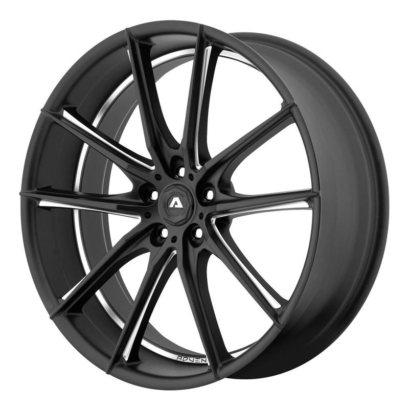 Shop Adventus AVX-10 Series Wheels - Matte black milled,Wheels & Tires & Free Shipping Canada   Partsengine.ca