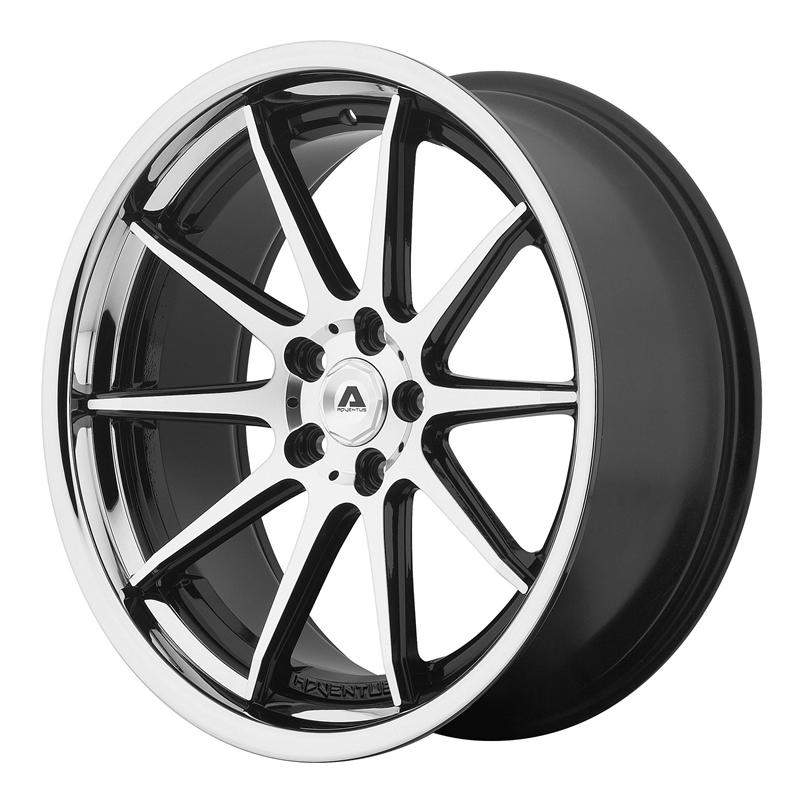 Shop Adventus AVS-4 Series Wheels - Gloss black machined with ss lip,Wheels & Tires & Free Shipping Canada | Partsengine.ca