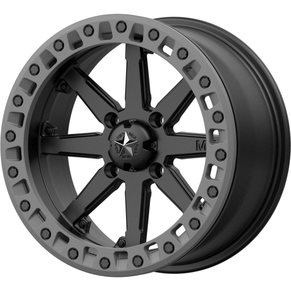 MSA Wheels M31 LOK2 Satin Black Matte Grey Ring - PartsEngine Canada